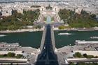 Shadows on the Seine. Eiffel Tower
