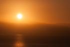 Sunrise over Calabria. Taormina
