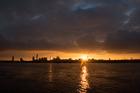 Mersey sunrise. Seacombe