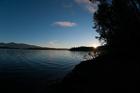 Island Sunrise. Sproat Lake, Vancouver Island