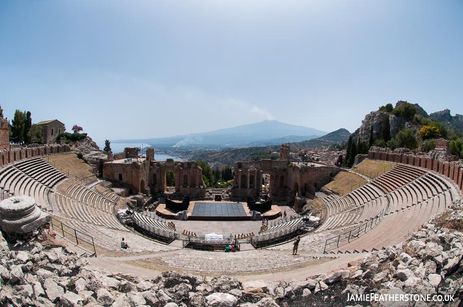 Greek Theatre. Taormina, Sicily